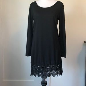 Dresses & Skirts - Lace hem dress